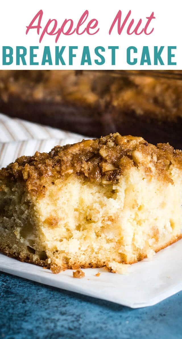 If you're looking for a delicious fruit cake to serve at breakfast, try this Apple Nut Breakfast Cake. Don't forget that cinnamon streusel topping! #coffeecake #breakfast #brunch #dessert #apple  via @thebestcakerecipes