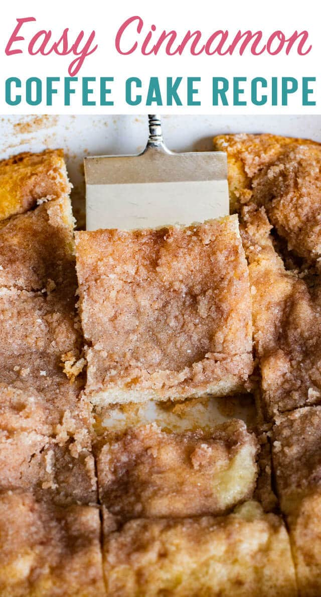 Need a breakfast in a hurry? Try this Easy Coffee Cake with cinnamon topping. It's best served fresh from the oven. #cake #breakfast #brunch #cinnamon via @thebestcakerecipes