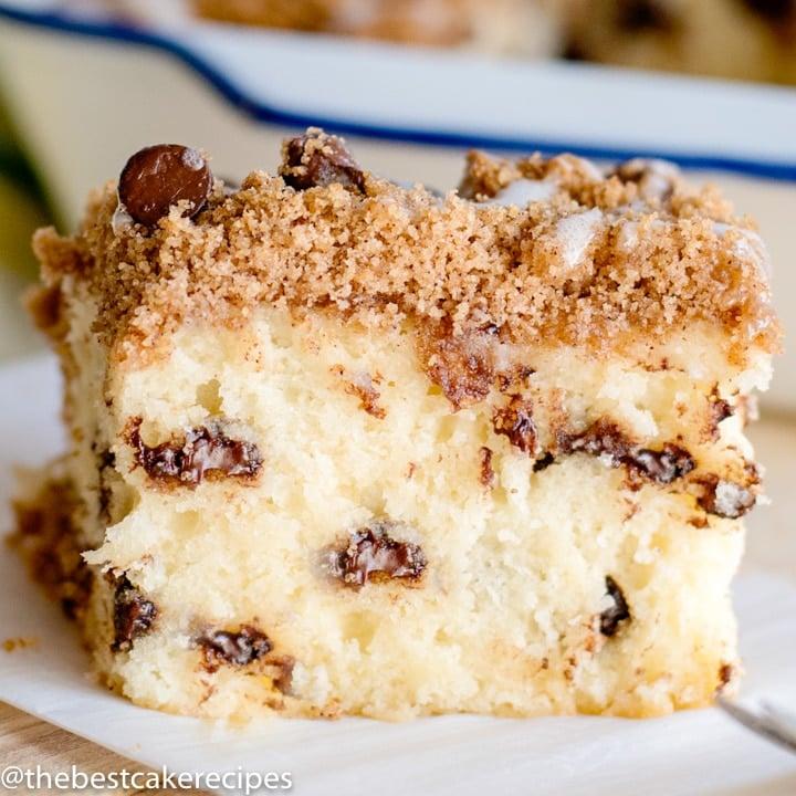 square image Chocolate Chip Coffee Cake