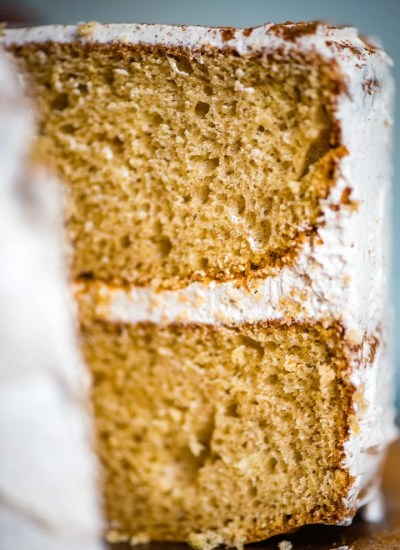 Cinnamon Layer Cake Recipe close up