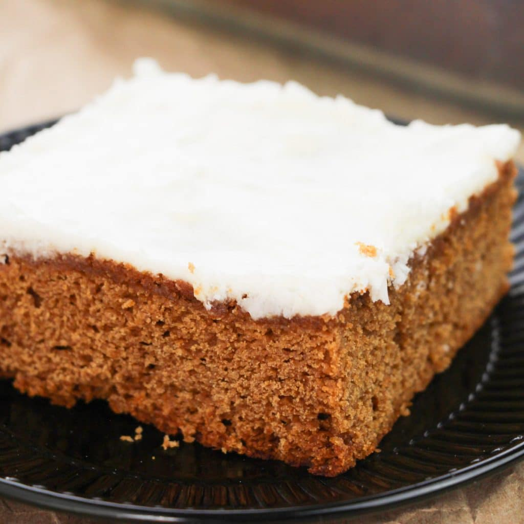 Easy Apple Butter Cake with cream cheese frosting