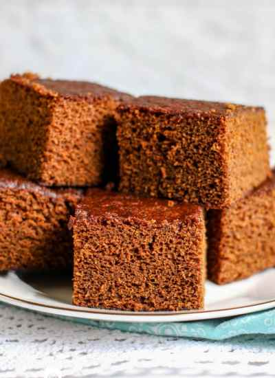 Gingerbread Cake Recipe unfrosted