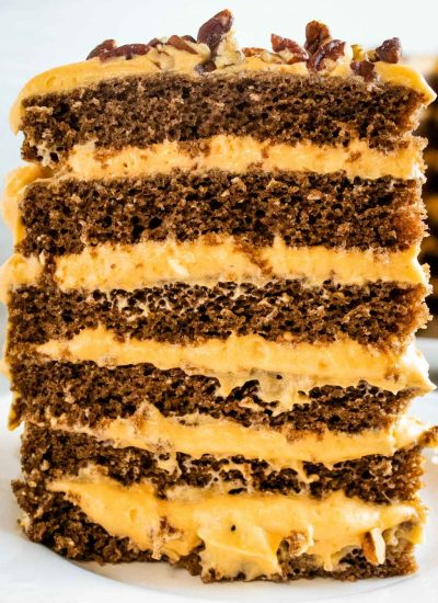 Pumpkin Chocolate Torte with cream cheese filling