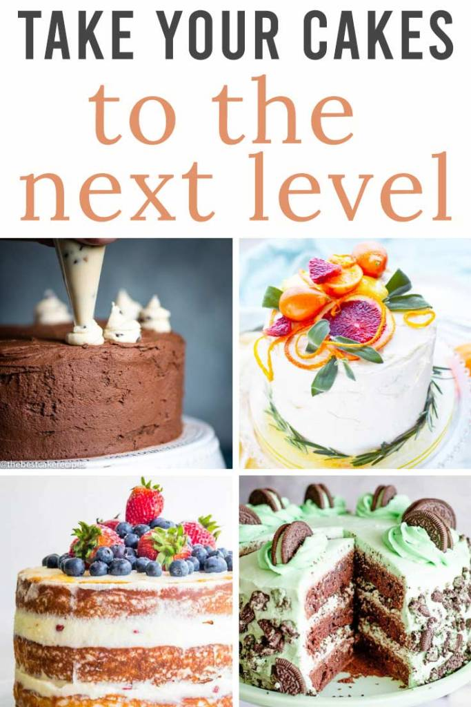 TAke your cakes to the next level title collage