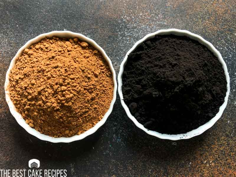 regular vs black cocoa powder