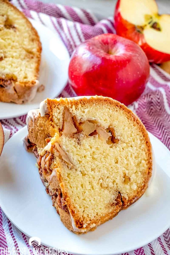 slice of Jewish Apple Cake on a plate
