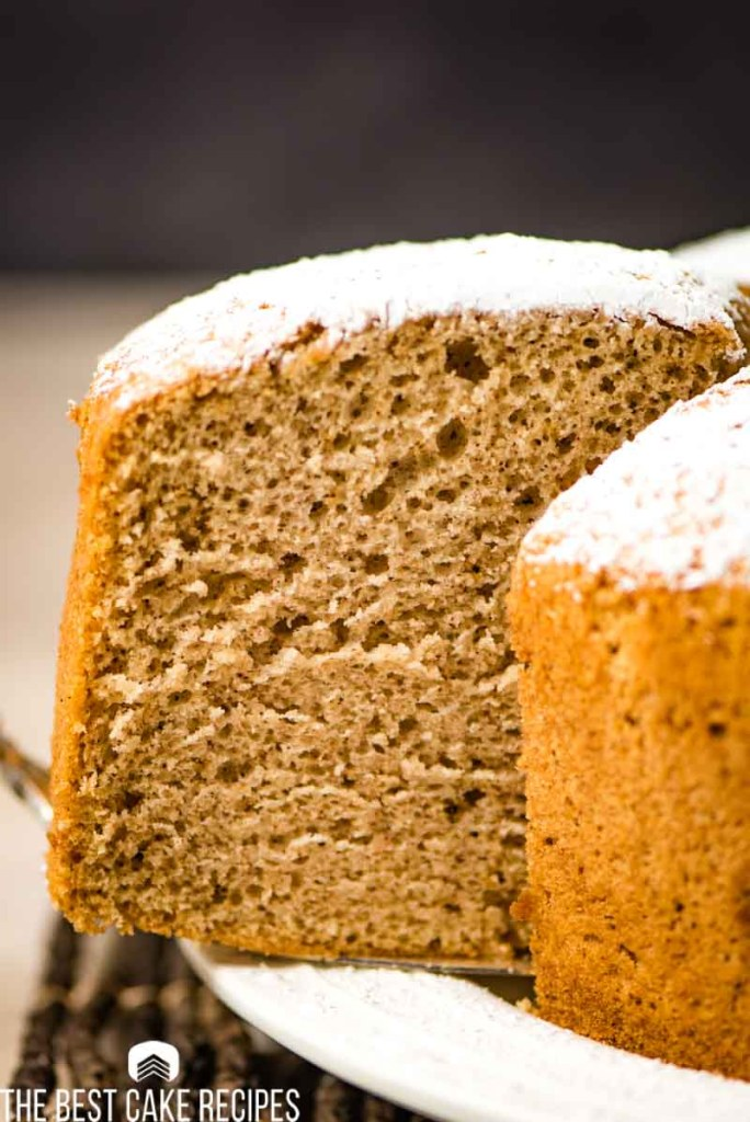spiced cake with powdered sugar