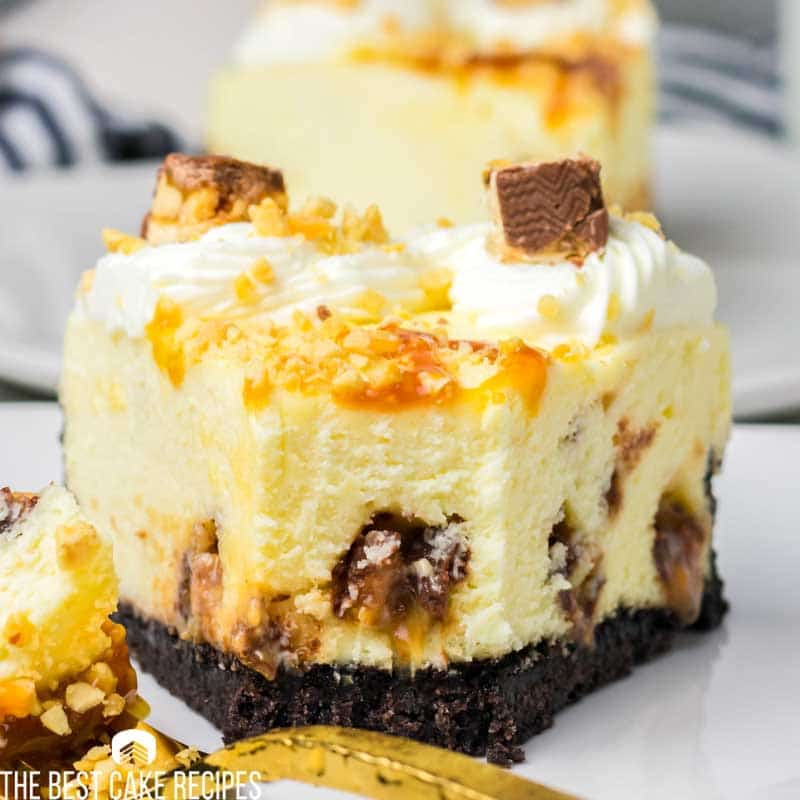 snickers cheesecake with oreo crust