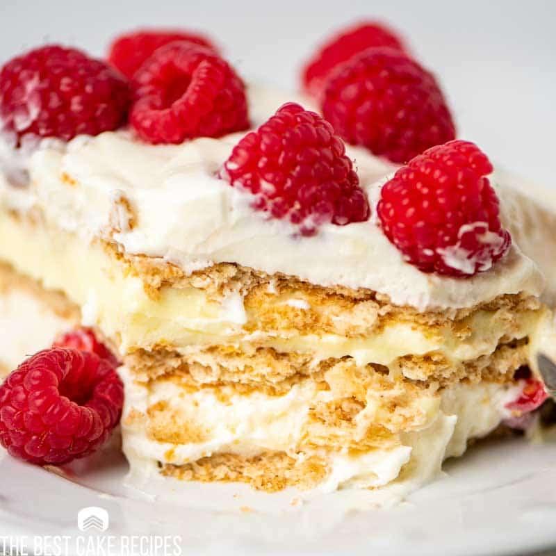 sliced icebox pudding cake