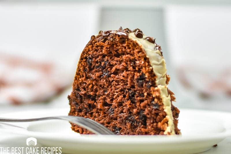 slice of bundt cake on a plate