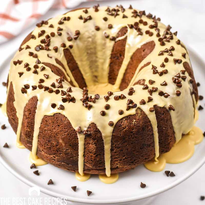 Chocolate Peanut Butter Bundt Cake from cake mix