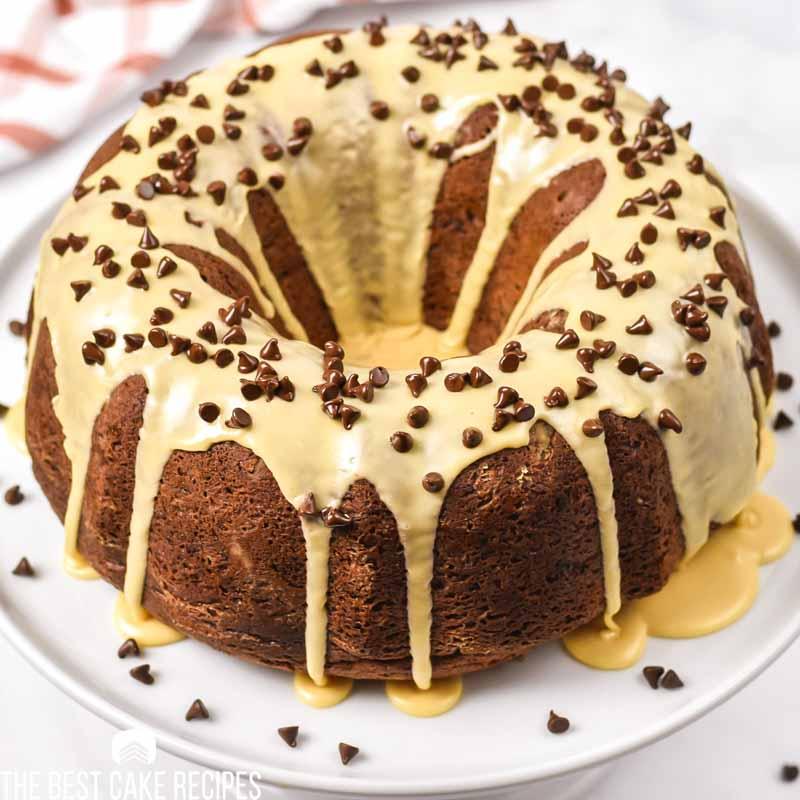 Chocolate Peanut Butter Bundt Cake from cake mix