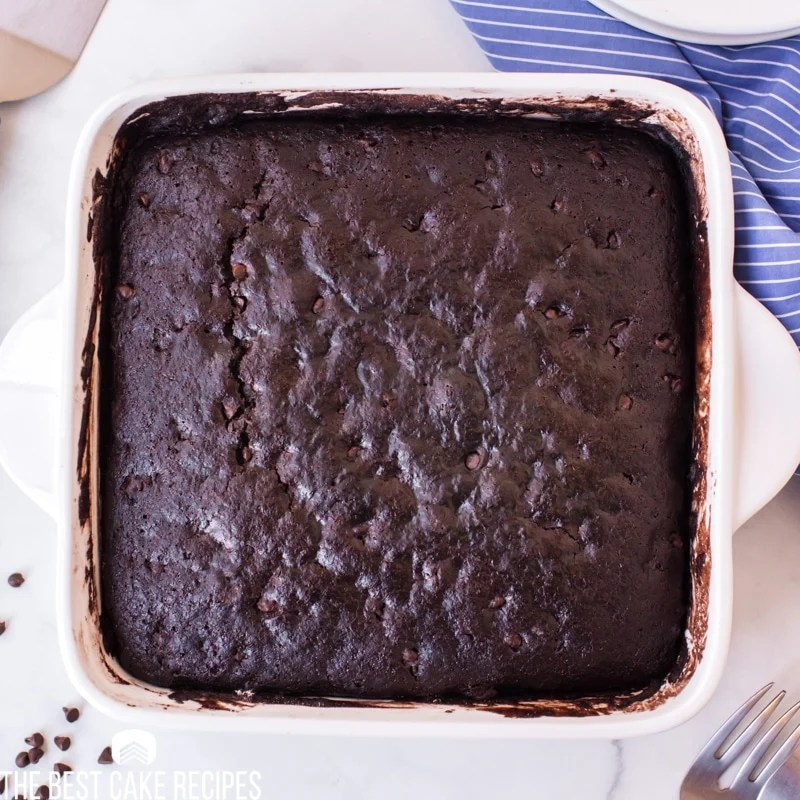 baked chocolate crazy cake