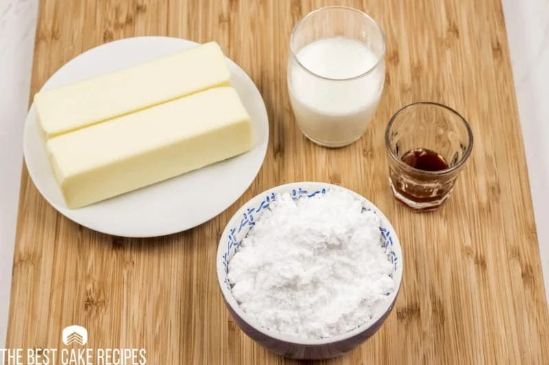 ingredients for Keto Vanilla Buttercream