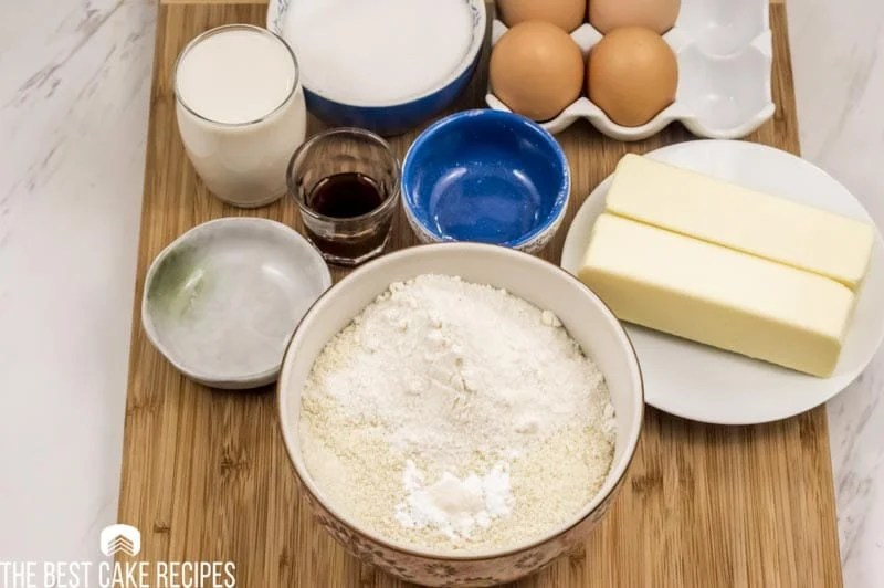 Low Carb Vanilla Cake ingredients