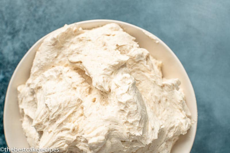 bowl of cinnamon buttercream