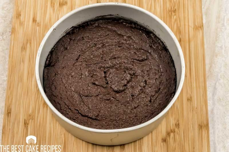 baked chocolate cake