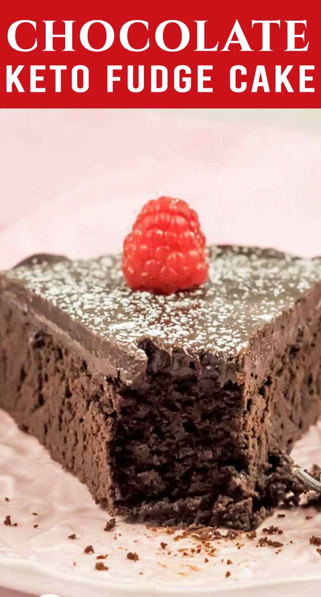 A true chocolate lover's dream! This intensely flavored Keto Chocolate Fudge Cake is rich, dense and fudgy. Pair with homemade whipped cream. via @thebestcakerecipes
