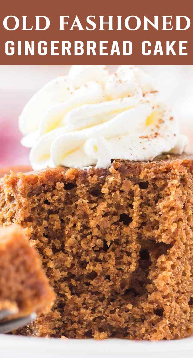 Perfectly spiced and delicious this Gingerbread Cake has no need for frosting! Sour cream gives that cake a touch of tang and keeps it soft and tender. via @thebestcakerecipes
