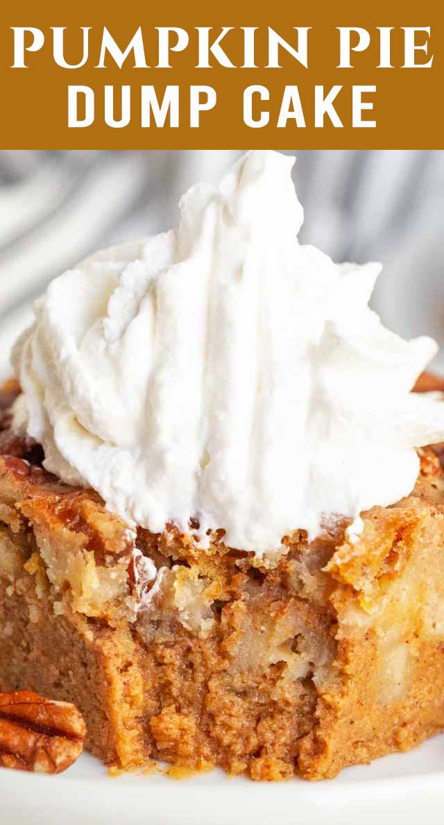 Easy and delicious this Easy Pumpkin Dump Cake is a fun, tasty fall dessert that whips up with no effort and will become a family favorite. via @thebestcakerecipes