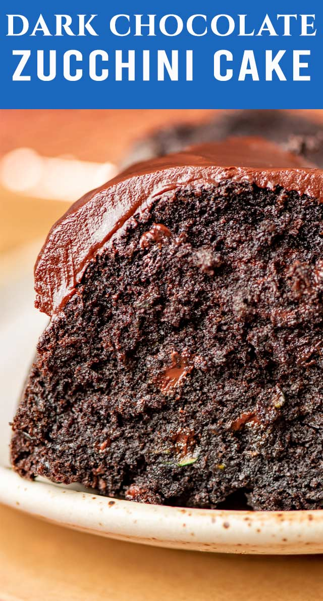The ultimate in texture and flavor, this dark chocolate zucchini bundt cake with silky ganache glaze is a chocolate lover's dream! via @thebestcakerecipes