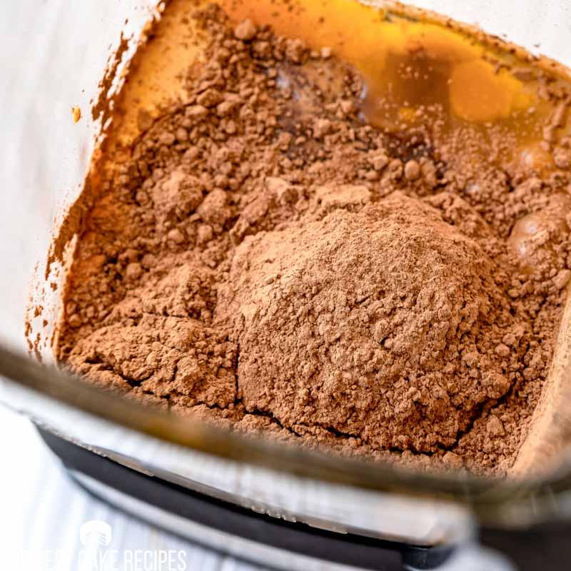 unmixed chocolate cake batter