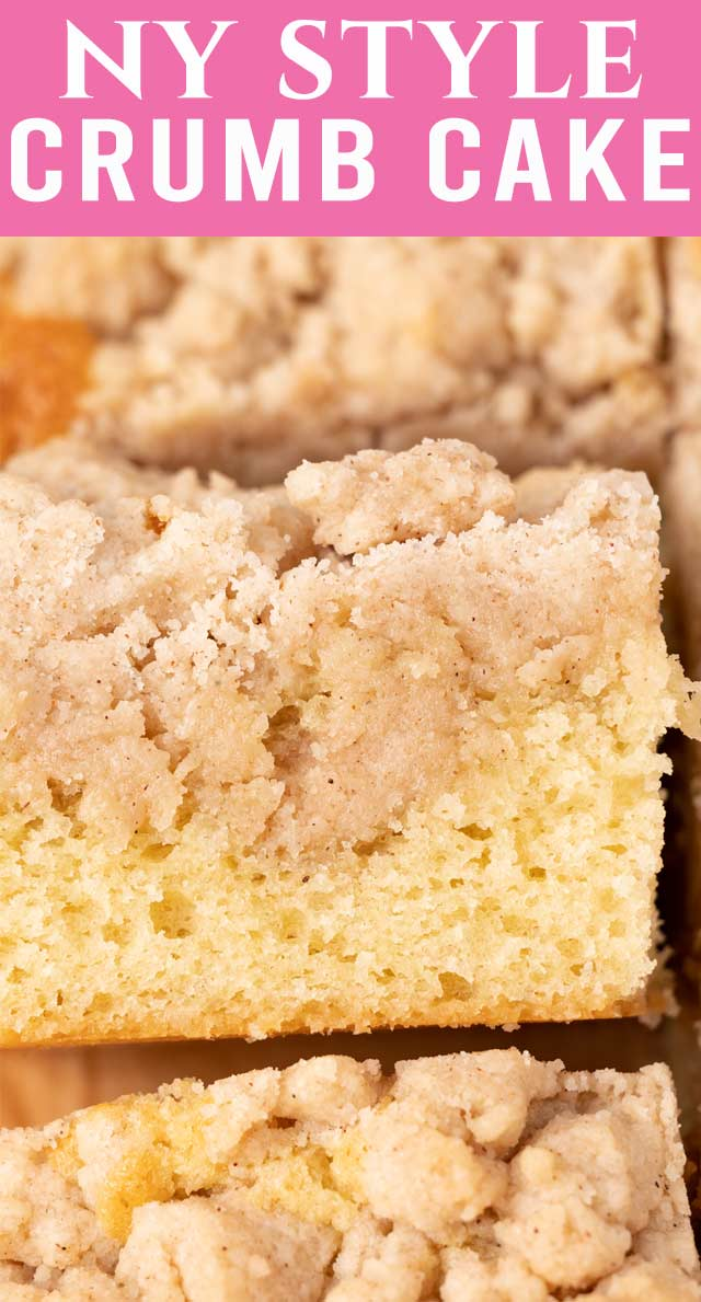 There's nothing more comforting than a simple white cake. This classic New York Crumb Cake is loaded with a sweet buttery crumble topping. via @thebestcakerecipes