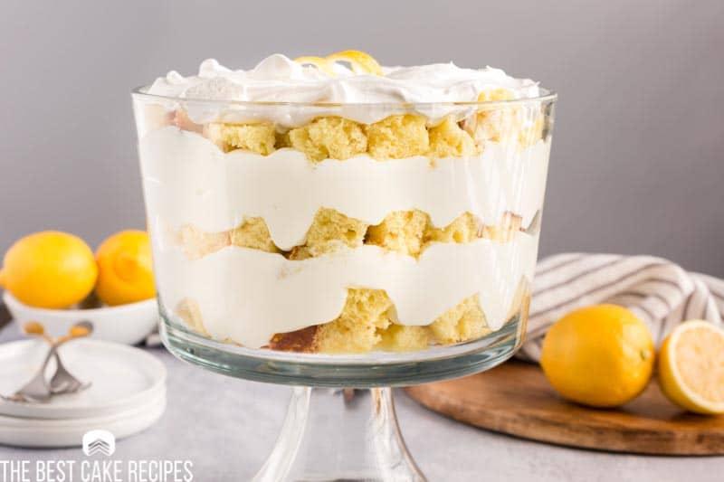 layered lemon trifle