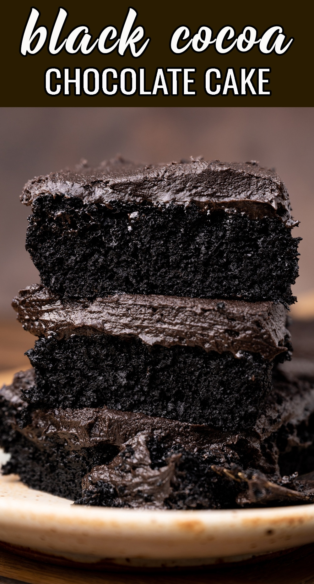 The ultimate in dark chocolate, this black cocoa powder cake is easy, yet makes a gorgeously dark presentation. via @thebestcakerecipes