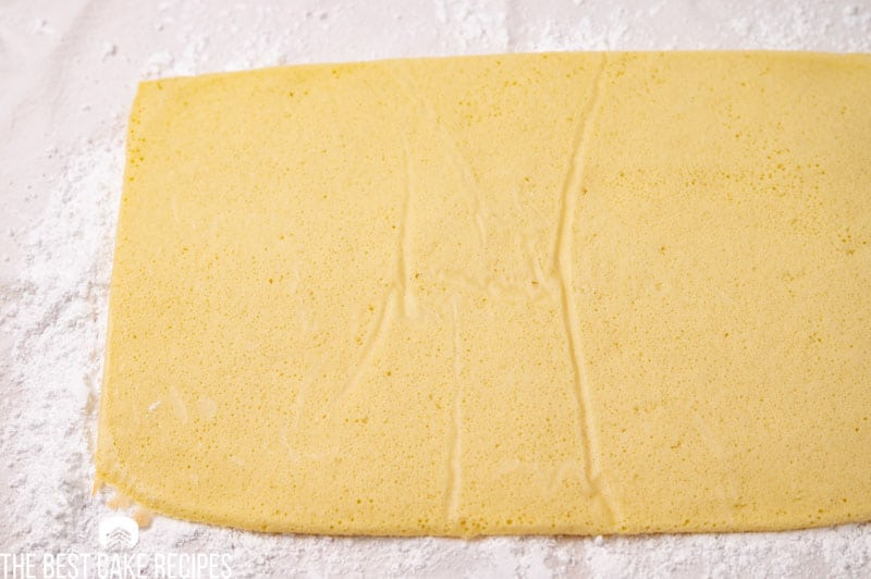 thin layer of cake for cake roll