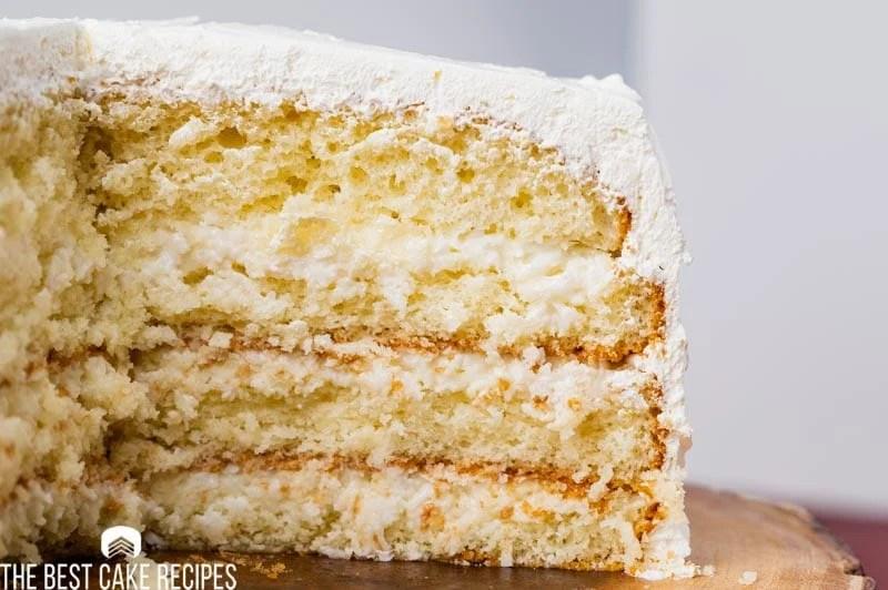 closeup of a cake on a cake plate