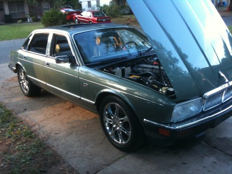 Jaguar XJ6. This color, but it didn't have such sporty wheels.