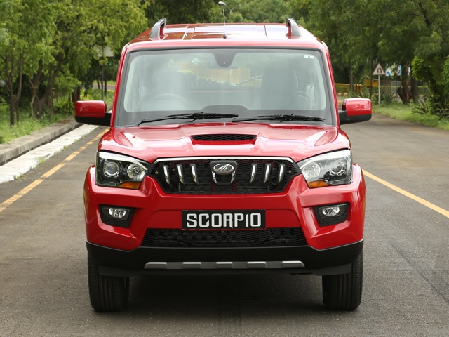 The Scorpio in Molten Red - front view