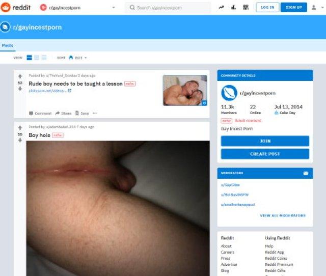 Reddit Gayincestporn Alternatives  Sites Like Reddit Gayincestporn