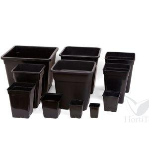 SQUARE BLACK POTS PLASTIC [BULK]