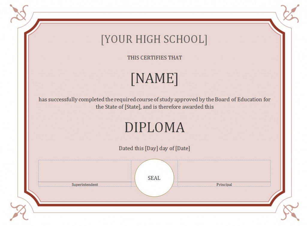 high school diploma template the best home school guide