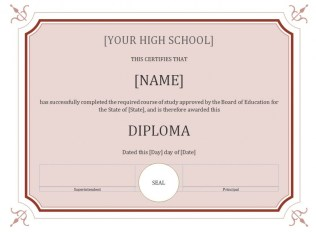 high school diploma templates homeschool