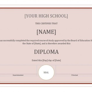 diploma templates homeschool