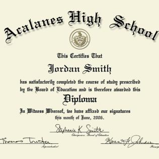 Refreshing image within printable diploma templates