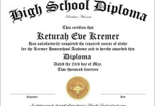 50 free high school diploma template printable certificate template