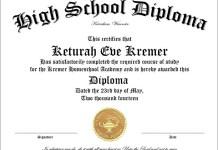 High School Diploma Template