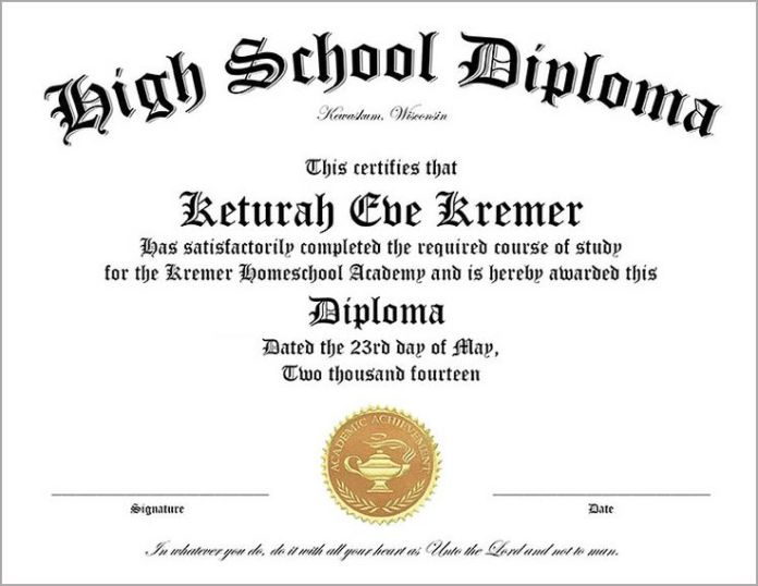 homeschool high school diploma