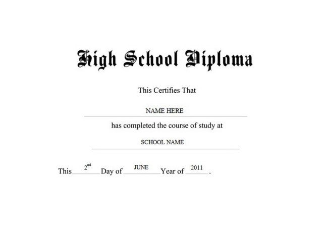 blank high school template