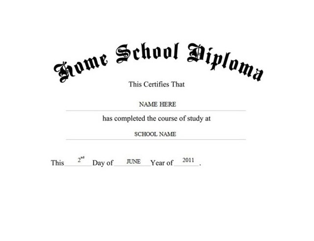 blank diploma template
