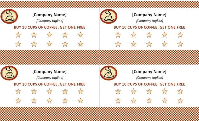 Punch Card Template Free Download - Free punch card template or design