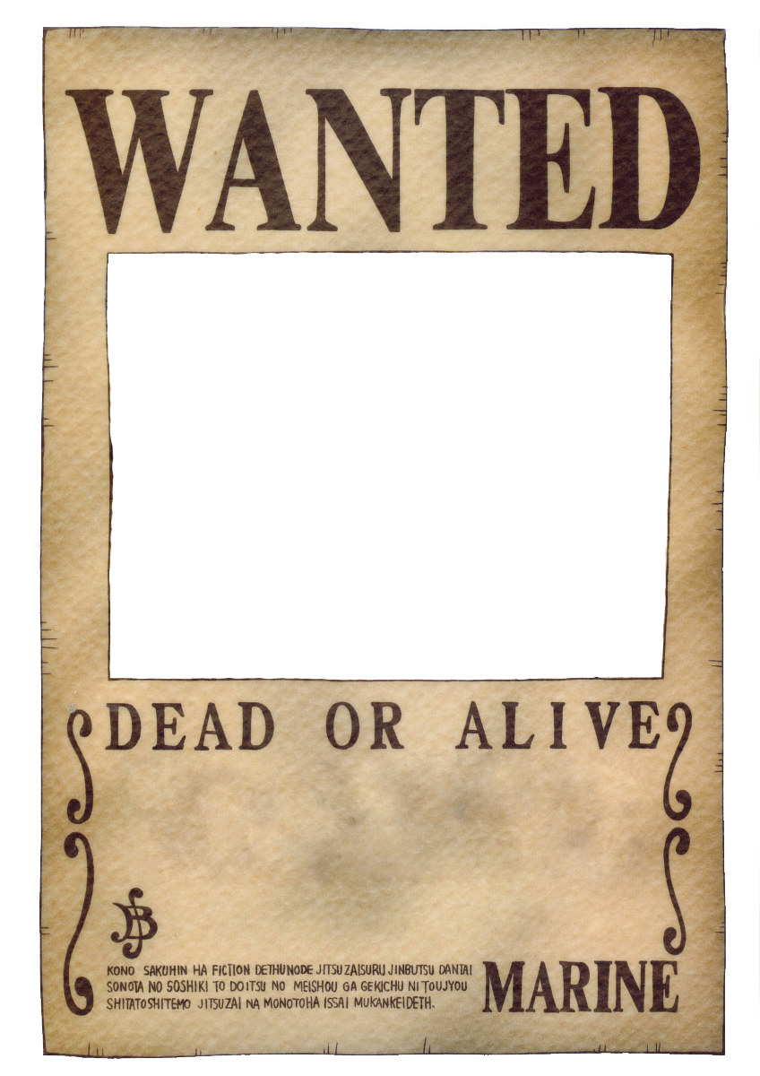 One Piece Wanted Poster ...