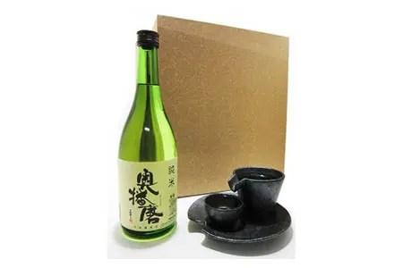 奥播磨 純米 720ml+ シズル冷酒器セット 銀黒