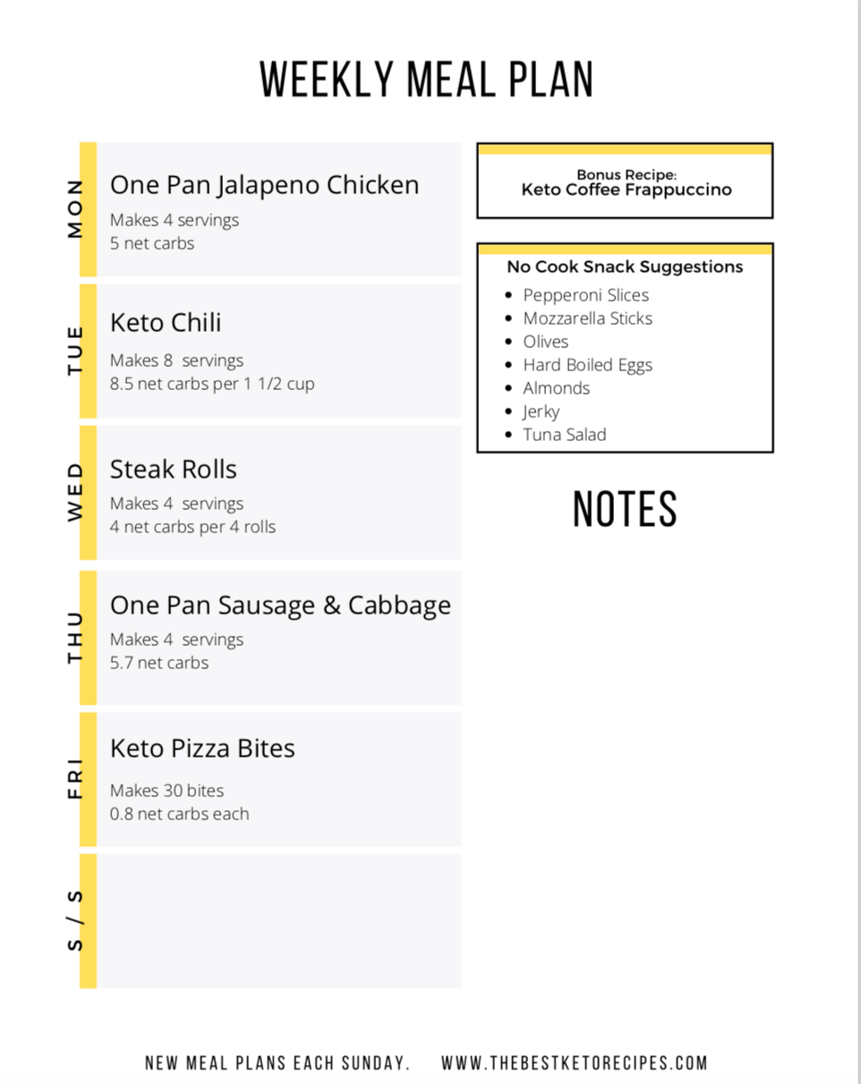 Easy Keto Weekly Meal Plan, this easy keto meal plan helps you start and stick to your keto diet!