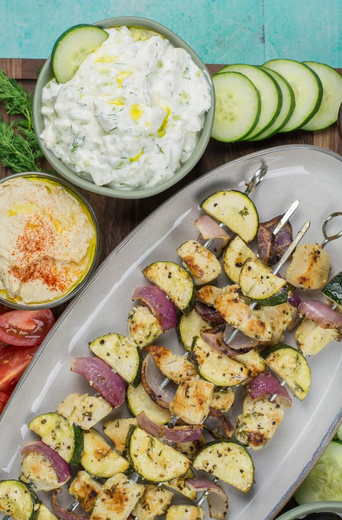 This creamy Keto Tzatziki is an easy low carb dip perfect on grilled meats, fresh vegetables or spooned over your favorite salad!