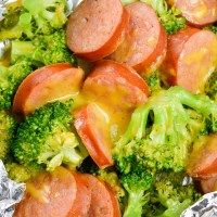 Sausage Broccoli Cheddar Foil Packs (keto + low carb)